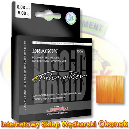 Dragon Plecionka Fishmaker Braid Orange Fluo (Toray)
