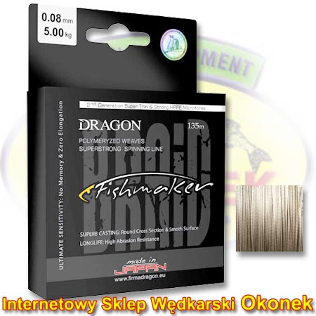 Dragon Plecionka Fishmaker Braid Grey (Toray)