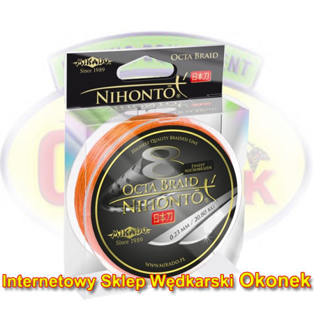 Mikado Plecionka Nihonto Octa Braid Fluo Orange 150m