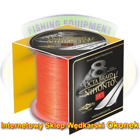 Mikado Plecionka Nihonto Octa Braid Fluo Orange 300m