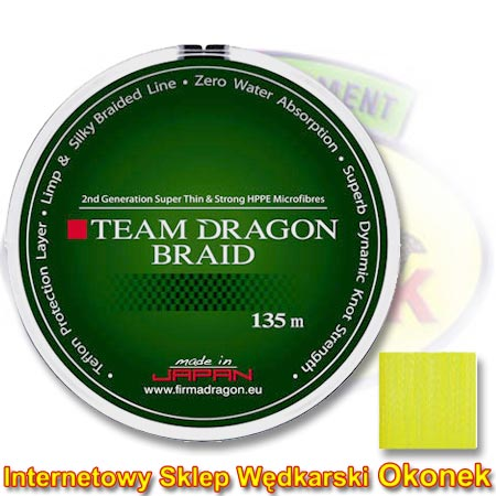 Dragon Plecionka Team Dragon Braid Yellow Fluo (Toray)