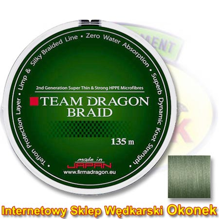 Dragon Plecionka Team Dragon Braid Grey/Green (Toray)